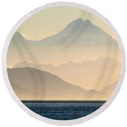 Glacier Bay Graphics Round Beach Towel