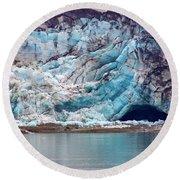Glacier Cave Round Beach Towel