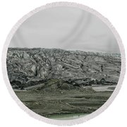 Glacier In Iceland Round Beach Towel
