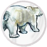 Glacier Mint Round Beach Towel