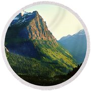Glacier National Park 2 Round Beach Towel