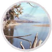 Glacier National Park 3 Round Beach Towel