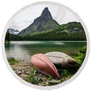 Round Beach Towel featuring the photograph Glacier National Park by Margaret Pitcher
