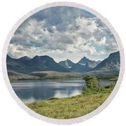Glacier National Park - St. Mary Lake Round Beach Towel