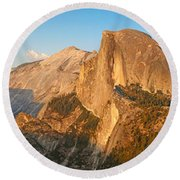 Glacier Point Panorama Round Beach Towel