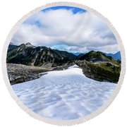 Glaciers At North Cascades Round Beach Towel