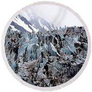 Glaciers Closeup - Alaska Round Beach Towel