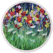 Glad All Over Round Beach Towel