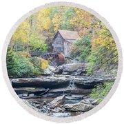 Glade Creek Grist Mill In Autumn Round Beach Towel