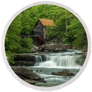 Glade Creek Grist Mill In May Round Beach Towel