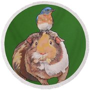 Gladys The Guinea Pig Round Beach Towel