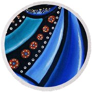 Abstract Eye Art Acrylic Eye Painting Surreal Colorful Chromatic Artwork Round Beach Towel