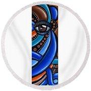 Glamorous - Abstract Painting - Eye Art - Ai P. Nilson Round Beach Towel