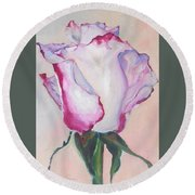 Round Beach Towel featuring the painting Glamour Roses IIi by Eva Konya