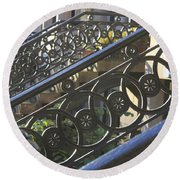 Glasgow Railings Round Beach Towel