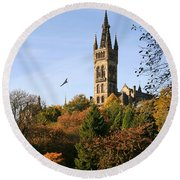 Glasgow University Round Beach Towel by Liz Leyden