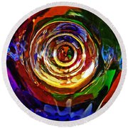 Glass Abstract 548 Round Beach Towel