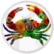 Glass Crab Round Beach Towel