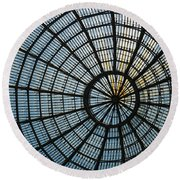 Glass Dome Roof Round Beach Towel