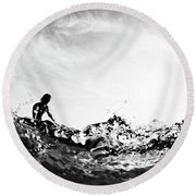 Glass House Round Beach Towel