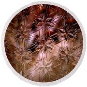 Glass Impressions Round Beach Towel by Lori Seaman