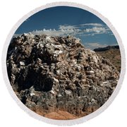 Glass Mountain Capital Reef National Park Round Beach Towel