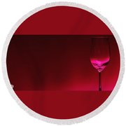Glass Of Wine Round Beach Towel