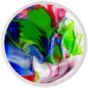 Round Beach Towel featuring the painting Glass Sculpture by Fred Wilson