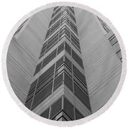 Round Beach Towel featuring the photograph Glass Tower by Rob Hans