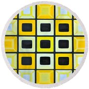 Glass Wall Round Beach Towel