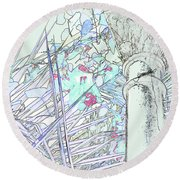 Round Beach Towel featuring the photograph Glasshouse Jungle by Nareeta Martin