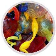 Glassworks Of The Milwaukee Art Museum Round Beach Towel