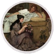 Glaucus And Nydia, 1867 Round Beach Towel