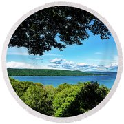 Glen Lake Round Beach Towel