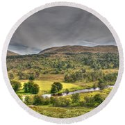 Glen Lyon Scotland Round Beach Towel