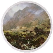 Glencoe Round Beach Towel