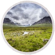 Round Beach Towel featuring the photograph Glencoe by Jeremy Lavender Photography