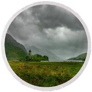 Glencoe, Scotland Round Beach Towel