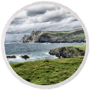 Round Beach Towel featuring the photograph Glencolmcille by Alan Toepfer