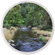 Round Beach Towel featuring the photograph Glendasan River. by Terence Davis