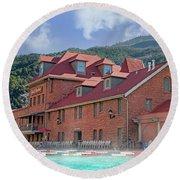 Glendwood Hot Springs Colorado  Round Beach Towel