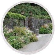 Glenveagh Castle Gardens 4288 Round Beach Towel