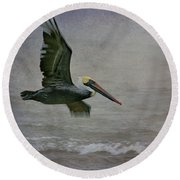 Gliding  Round Beach Towel