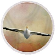 Gliding On Air Round Beach Towel