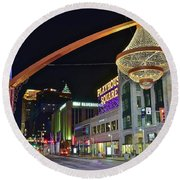 Round Beach Towel featuring the photograph Glitz And Glamour In Cleveland Ohio by Frozen in Time Fine Art Photography