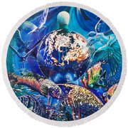 Planet  Earth - Our Family Tree Round Beach Towel