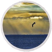 Glorious Evening Round Beach Towel by Jan Amiss Photography