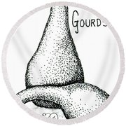 Glorious Gourds Round Beach Towel