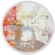Glorious Mess - Bright Abstract Painting Round Beach Towel by Modern Art Prints
