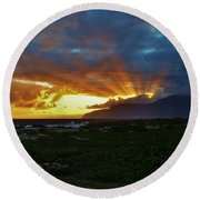 Glorious Morning Light Round Beach Towel by Craig Wood